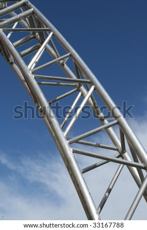 Modern Architecture Detail stainless steel structure modern architecture detail stock photo