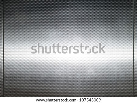Stainless steel surface background with lines - stock photo