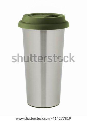 Stainless Steel Travel Mug - stock photo