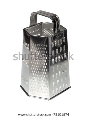 Stainless steel vegetable grater isolated on the white background