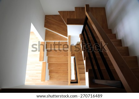 Stair case to Down stair - stock photo