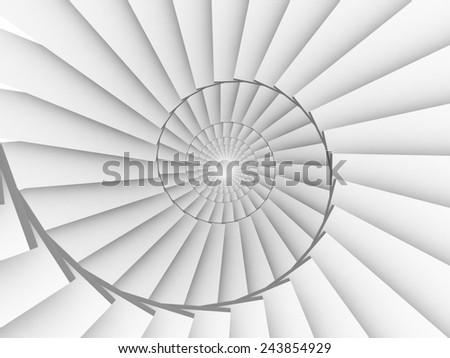 Stair circle - stock photo