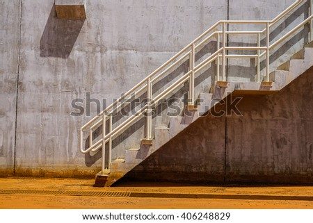 Stair in fuel oil tank farm