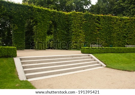 stair in Rodin museum in Paris        - stock photo