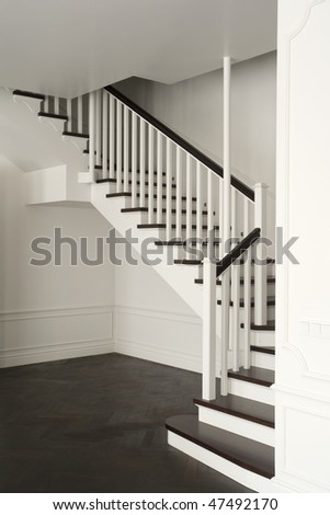 stair in white color - stock photo