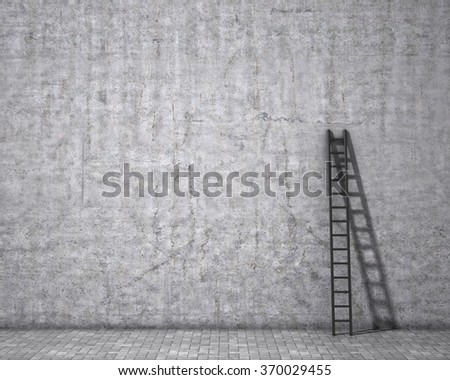 Stair on dirty grunge wall. - stock photo
