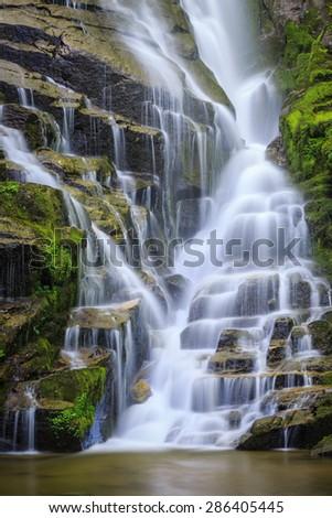 Stair step waterfall in North Carolina - stock photo