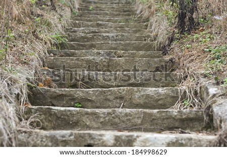 Stair steps. - stock photo