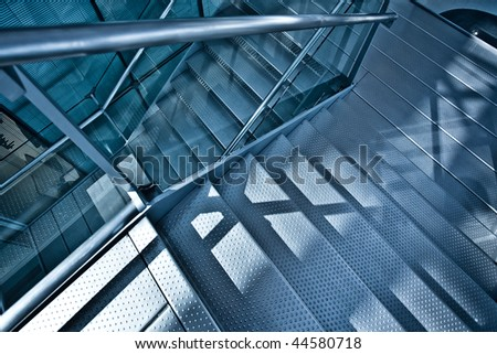 Stair steps down - stock photo