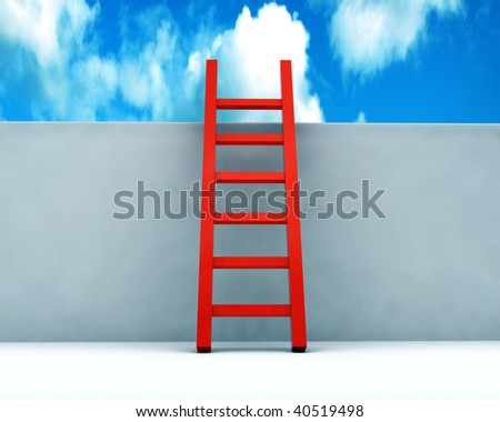 Stair to the sky - stock photo