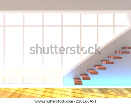 Stair with Windows