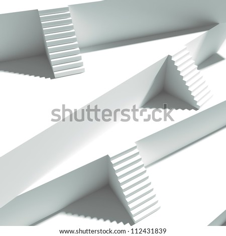Staircase. Group from stairs - stock photo