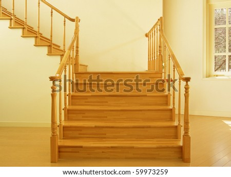 Staircase House - stock photo
