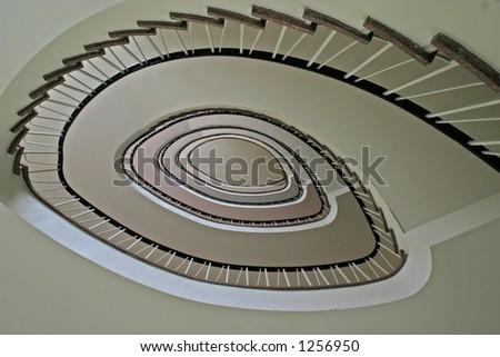 staircase in Hamburg - stock photo