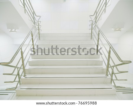 Staircase in modern building - stock photo