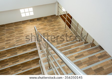 Crossing Brick Wall Staircase Stock Photo 2615874