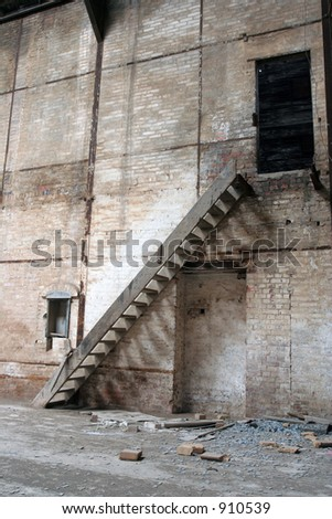 Staircase inside factory