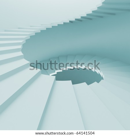 Staircase Interior - stock photo