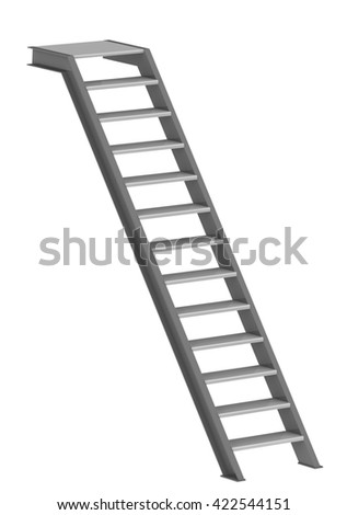 Staircase isolated on white background. 3D Illustration