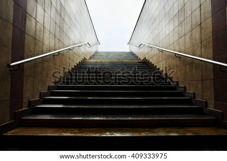 staircase. light ahead - stock photo