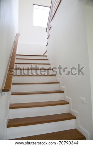 Staircase of residencial - stock photo