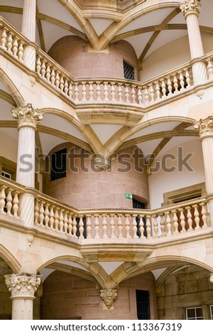 "Staircase of the Old Castle ""Altes Schloss"" in Stuttgart, Germany - stock photo"