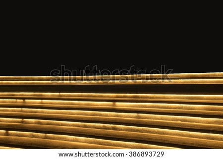 Staircase stage decorate light modern - stock photo