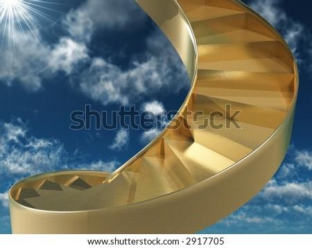 staircase to heaven - stock photo