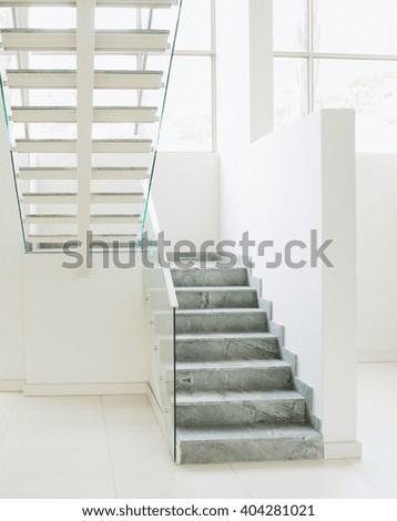 staircases interior - stock photo