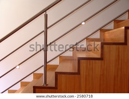 stairs, apartment, architecture, design, house, interior, modern - stock photo