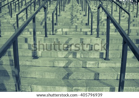 Stairs. City architecture - stock photo
