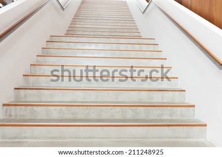 Stairs extending upside in a modern building - stock photo