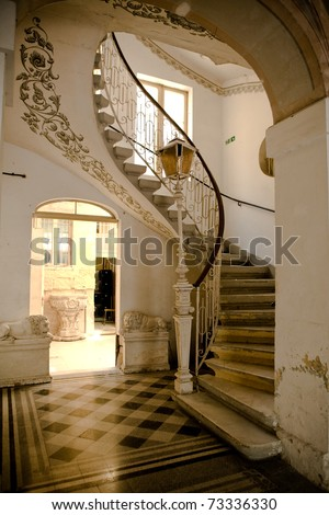 stairs in a house - stock photo