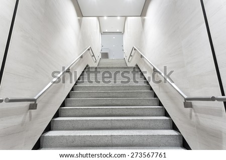 stairs in building corridor - stock photo