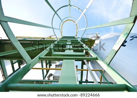 Stairs in factory - stock photo