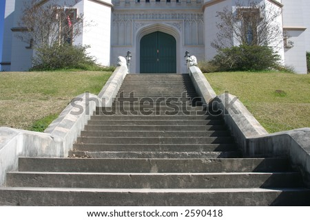 Stairs in Front of Old State Capitol Building in Baton Rouge Louisiana