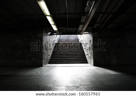 stairs in the subway - stock photo