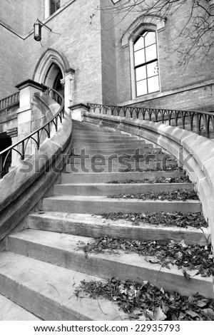 Stairs in Vanderbilt university campus in Nashville, TN - stock photo