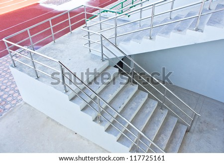Stairs  into the stadium