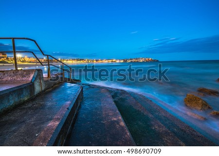 Stairs into the water at Bondi Beach