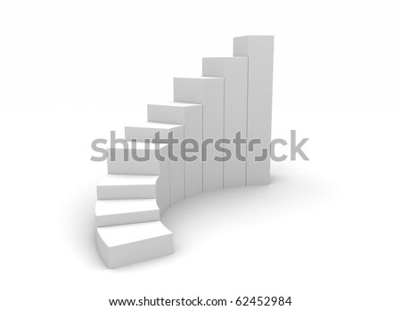 White staircase stock photos illustrations and vector art