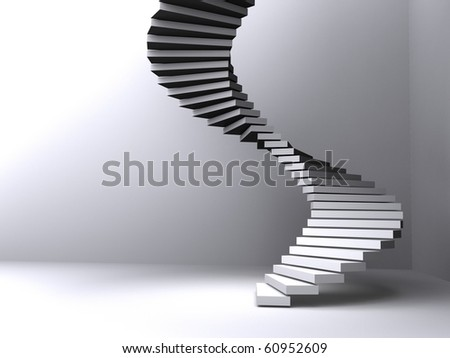 stairs lighted - stock photo