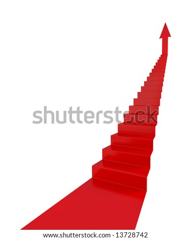 Stairs of Success - stock photo