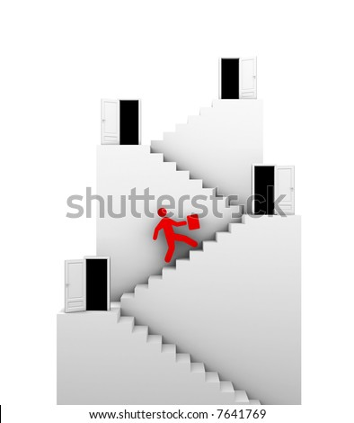 Stairs of success. Conceptual abstract - stock photo