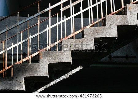 Stairs old building - stock photo