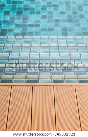 Stairs passage of the pool. - stock photo