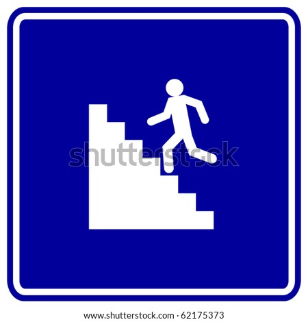 stairs sign - stock photo