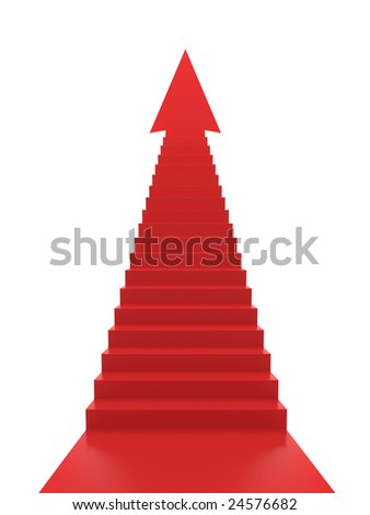 Stairs to Success - stock photo