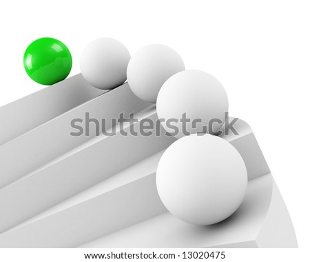 stairs to success. leadership concept - stock photo