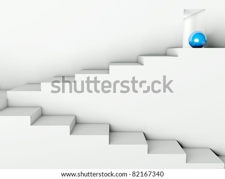 Stairs Way to Success, 3d business concept - stock photo